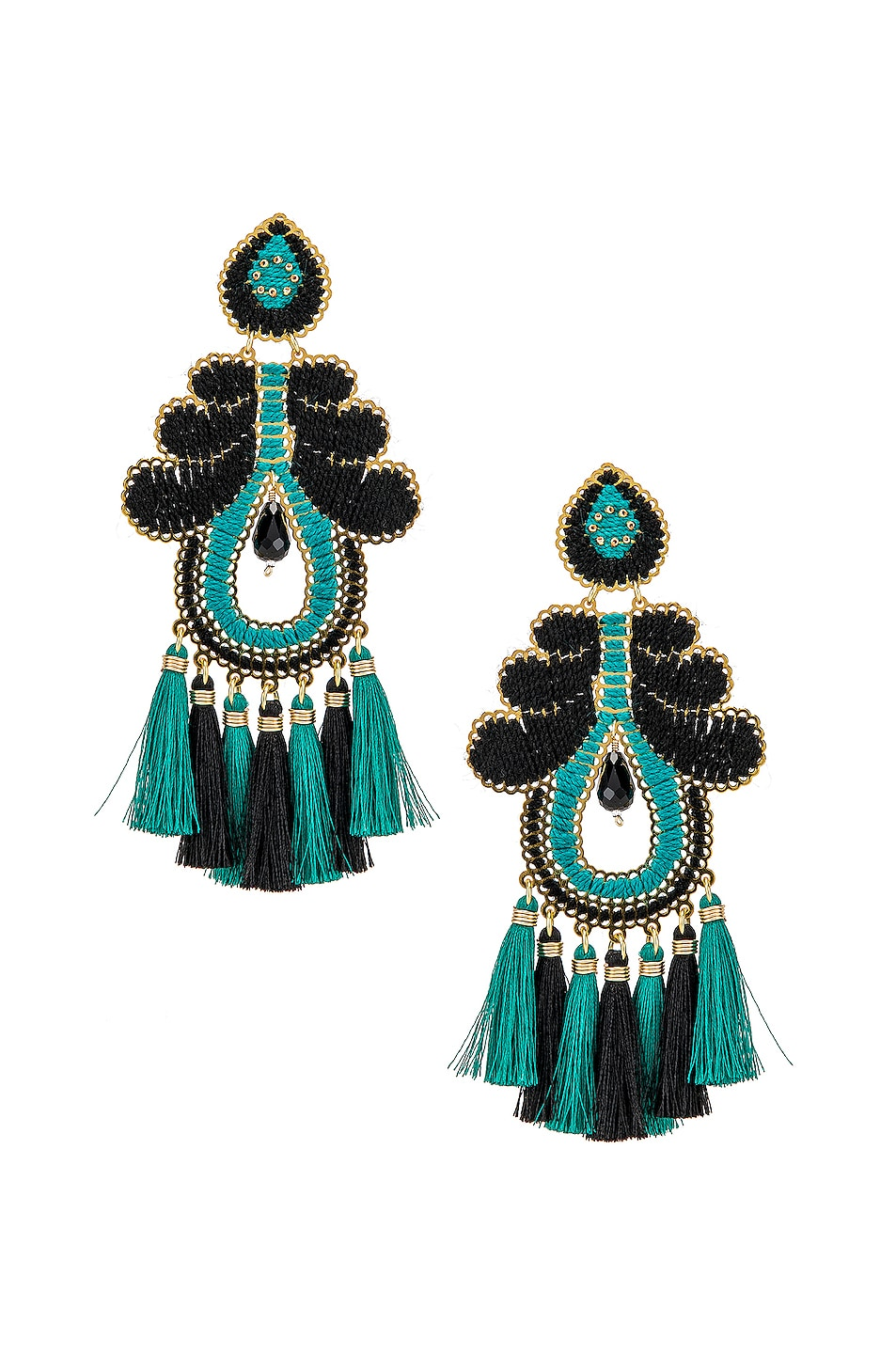 Image 1 of Mercedes Salazar Curubas Earrings in Turquoise