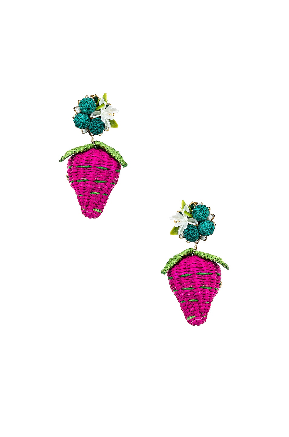 Image 1 of Mercedes Salazar Strawberry Tropics Earrings in Pink