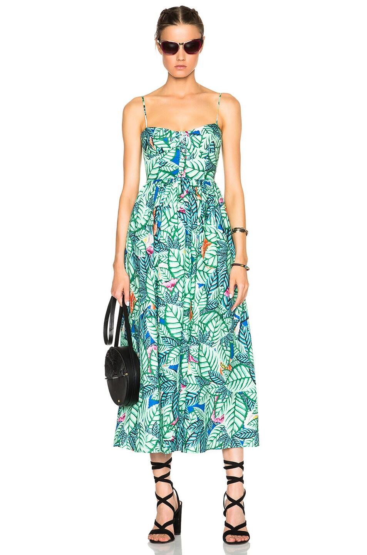 91fd389918e Image 5 of Mara Hoffman Bustier Dress in Leaf Linen