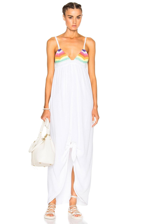a4301847f7f Image 1 of Mara Hoffman Crochet Tie Front Dress in Rainbow Multi