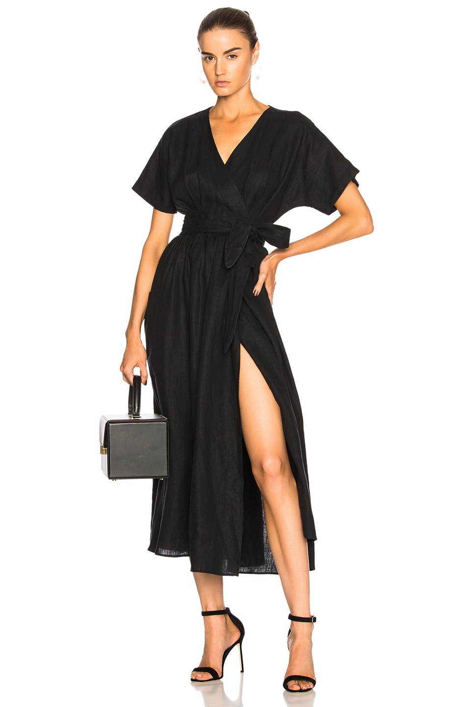 INGRID HEMP WRAP DRESS