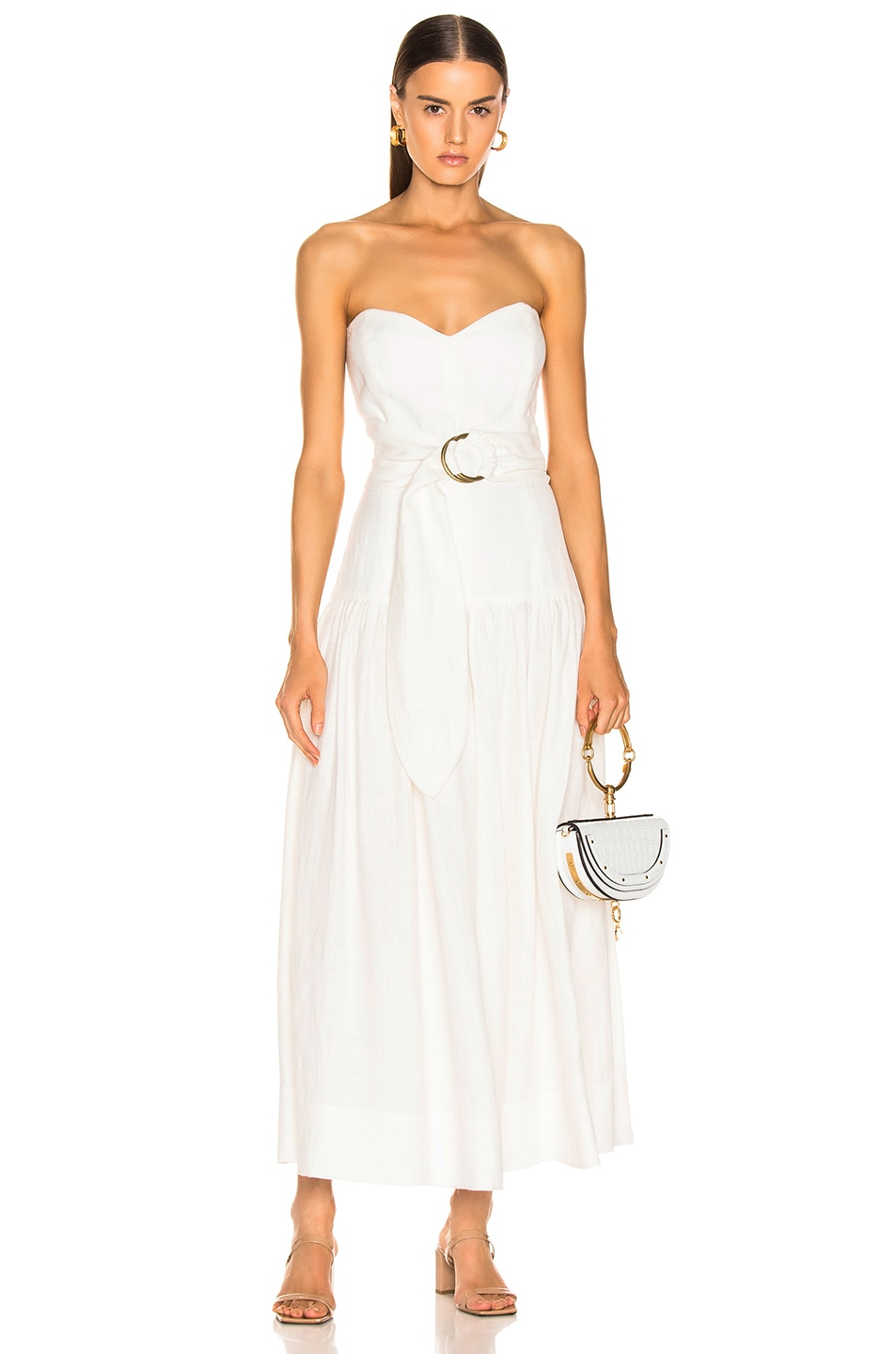 Image 1 of Mara Hoffman Augustina Dress in White
