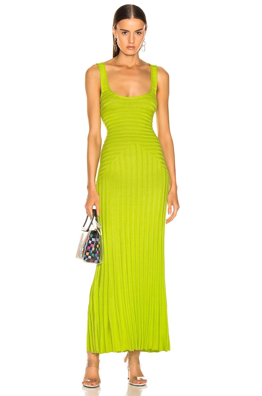 Image 1 of Mara Hoffman Michaela Dress in Lime