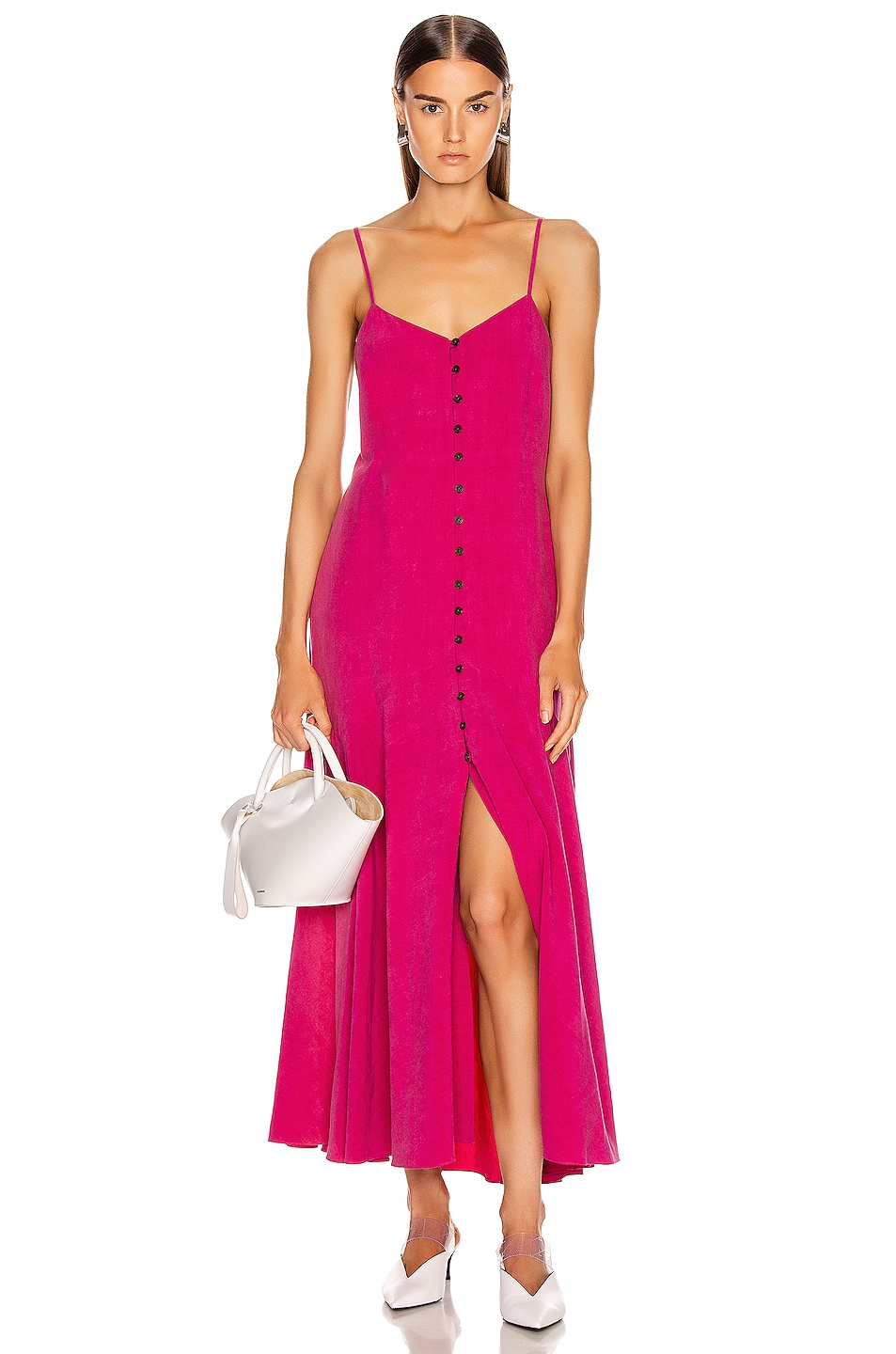 Image 1 of Mara Hoffman Diana Dress in Hot Pink