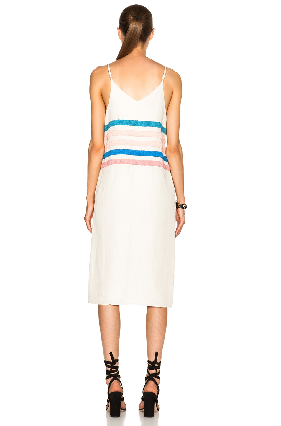 Image 4 of Mara Hoffman Linen Embroidered Dress in Stone