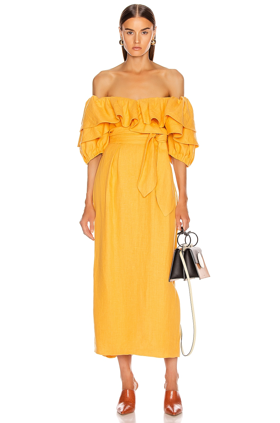 Image 1 of Mara Hoffman Arabella Dress in Yellow