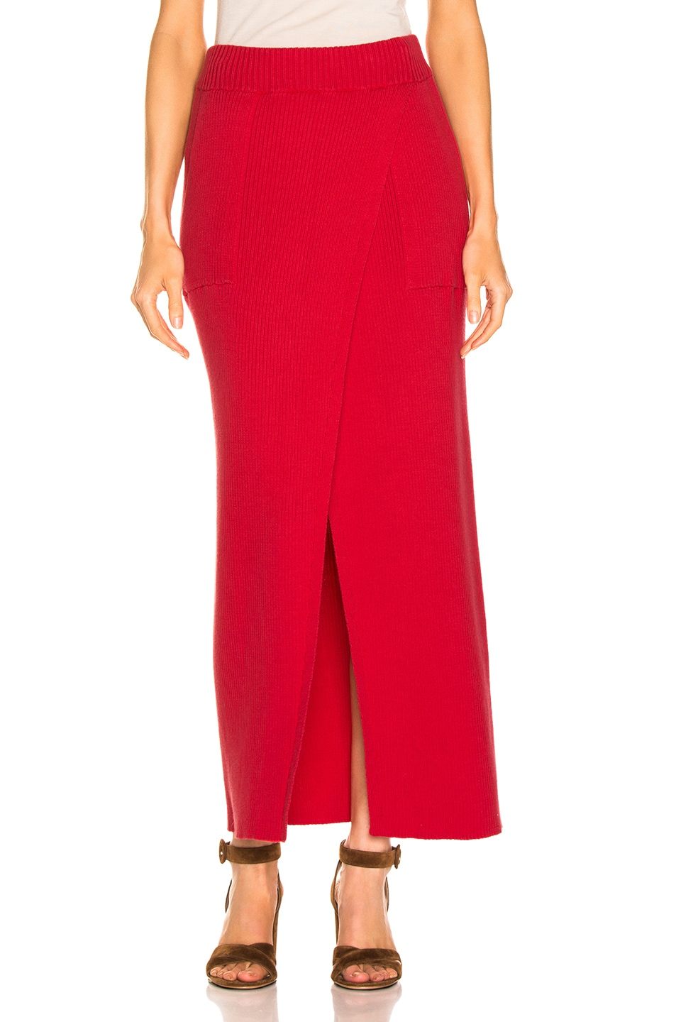 Image 1 of Mara Hoffman Elena Skirt in Red