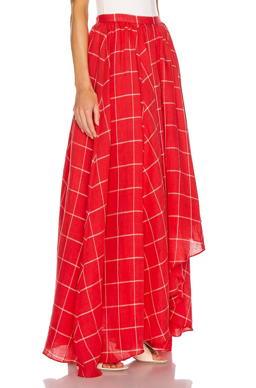 Image 2 of Mara Hoffman Akila Skirt in White Red