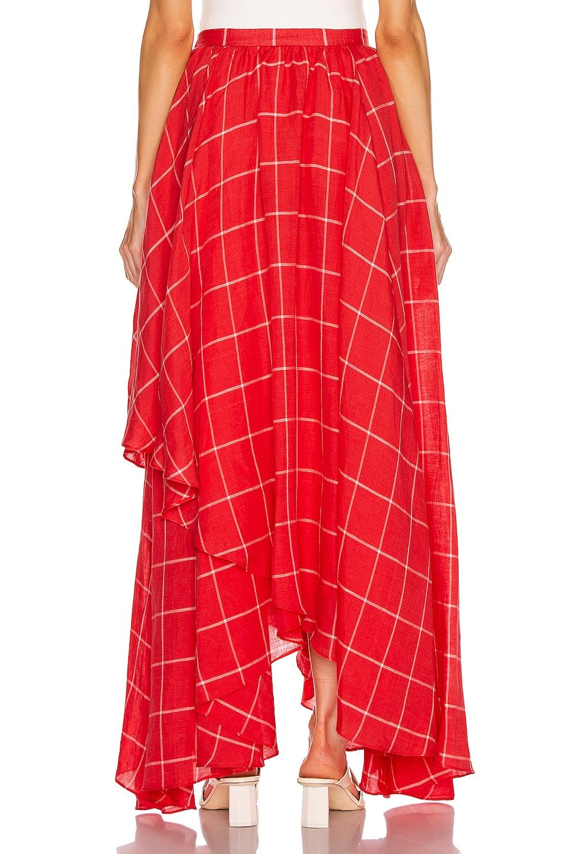 Image 3 of Mara Hoffman Akila Skirt in White Red