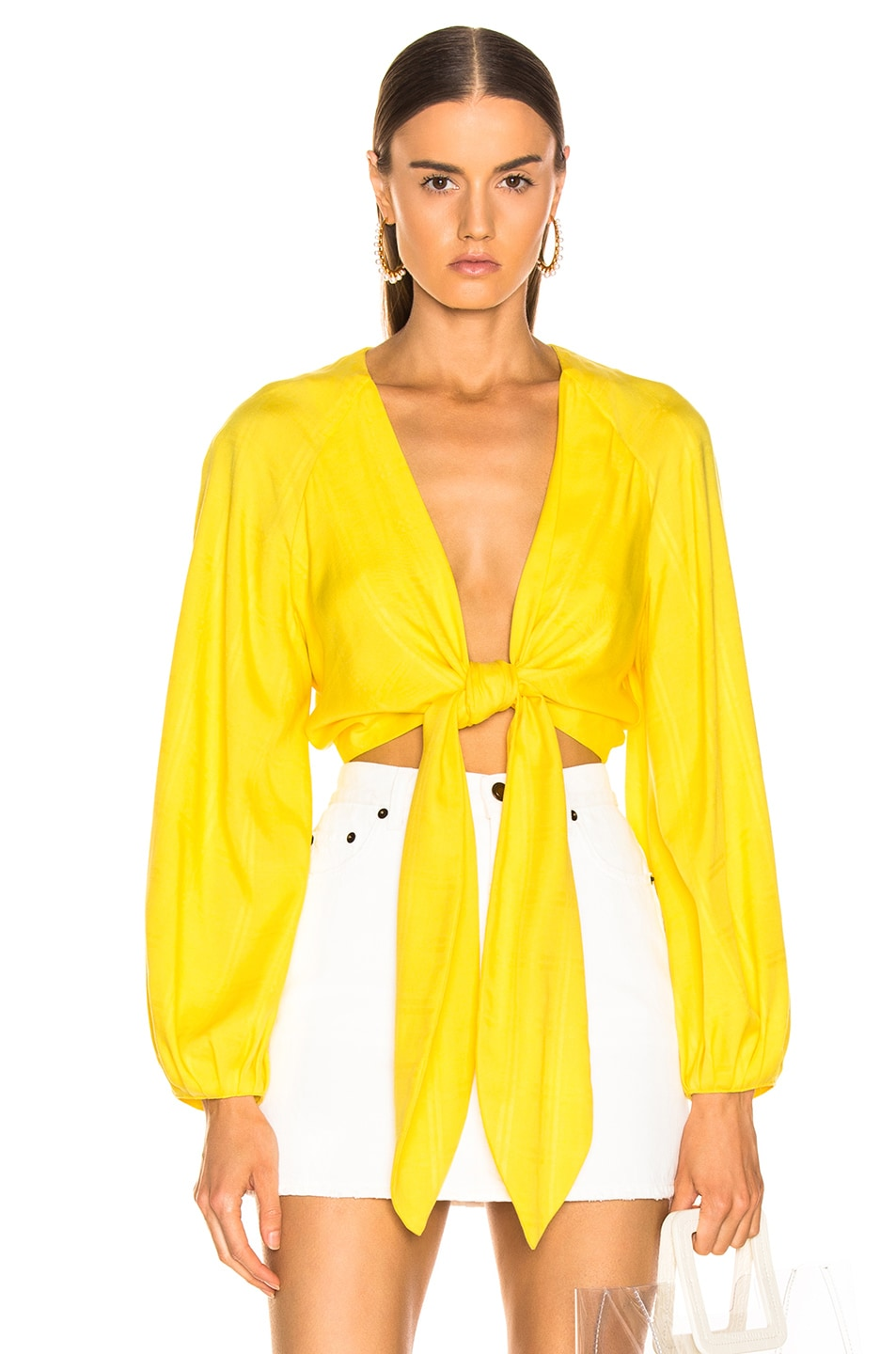 Image 1 of Mara Hoffman Gianna Top in Yellow