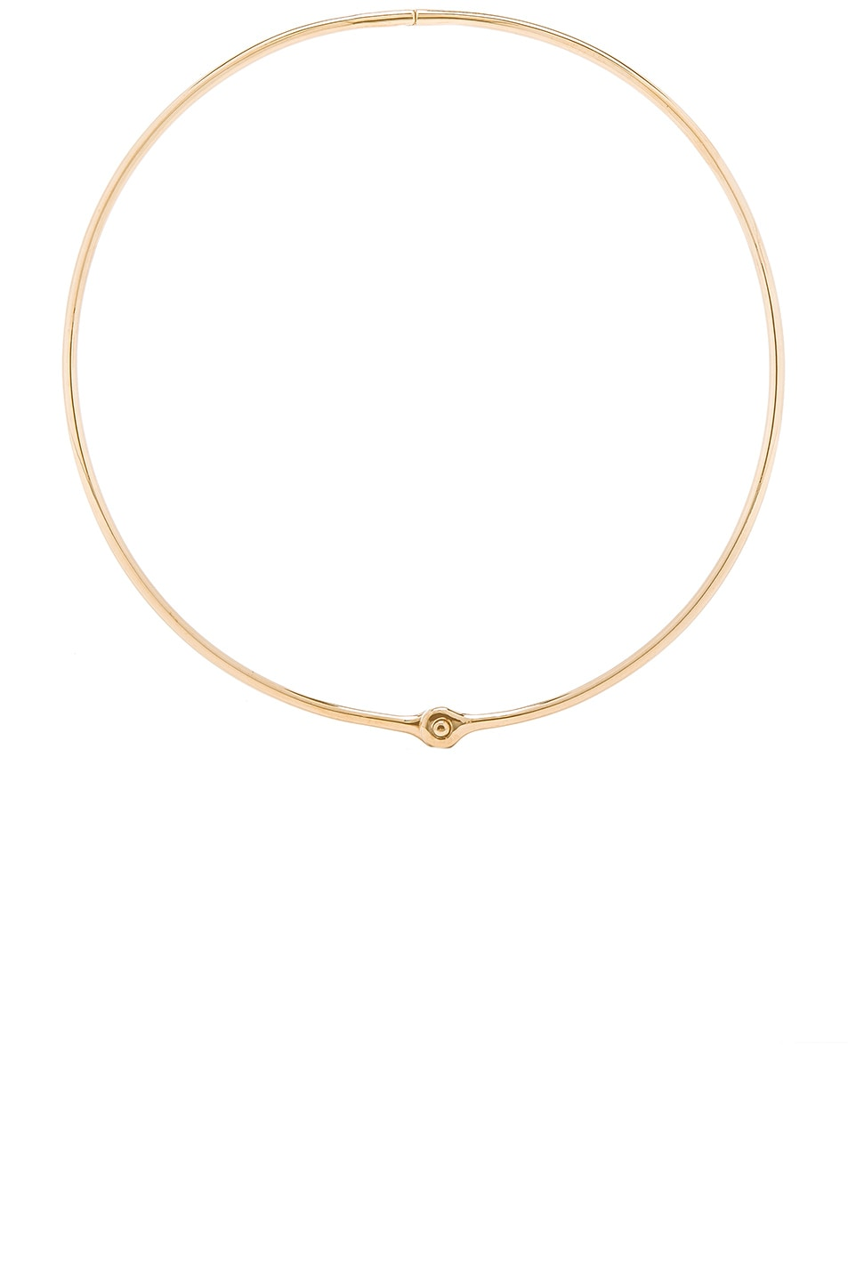 Image 1 of Miansai Thin Reeve Choker in Polished Gold