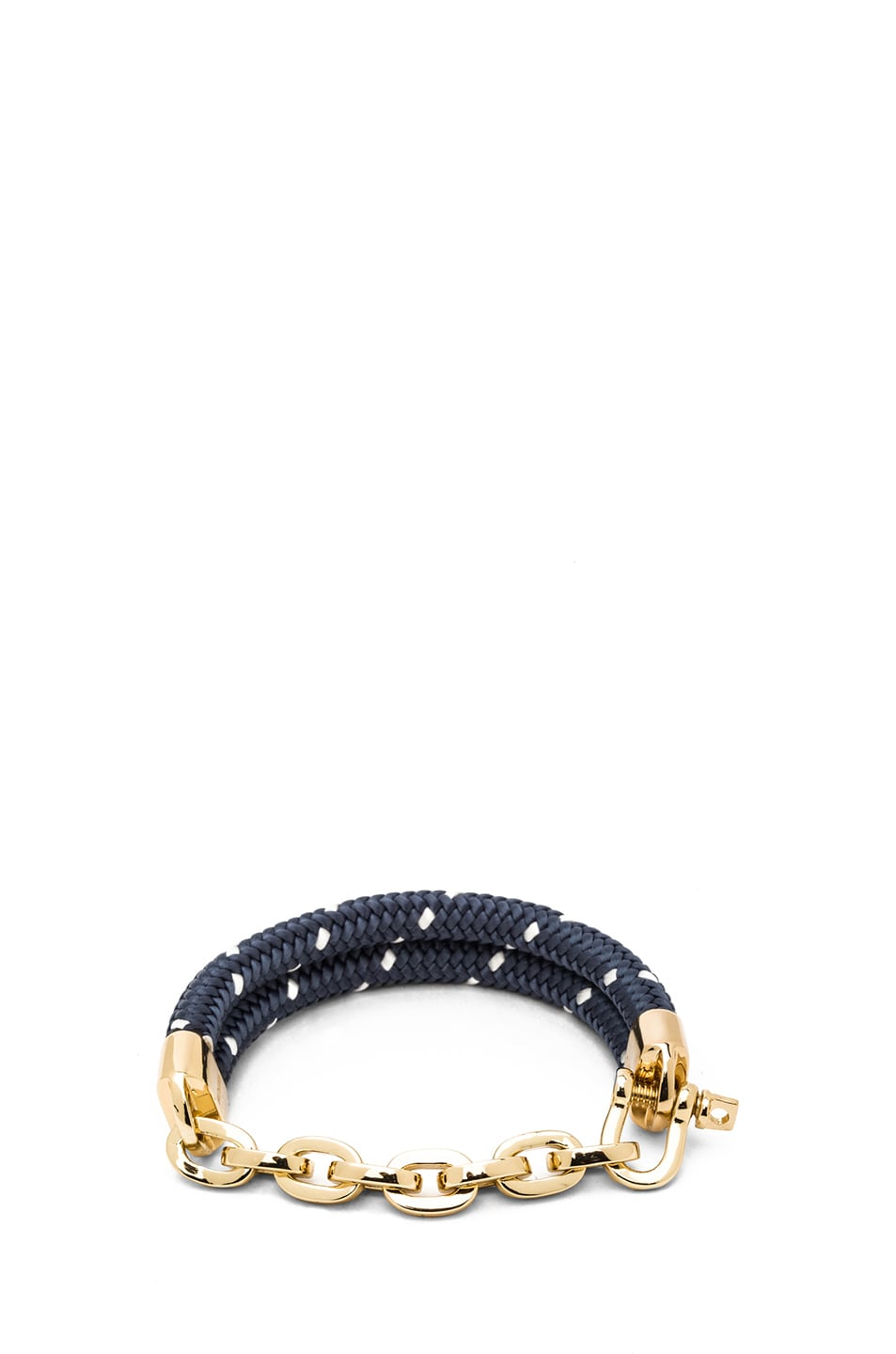 Image 1 of Miansai Karoo Chain on Rope Bracelet in Gold & Navy