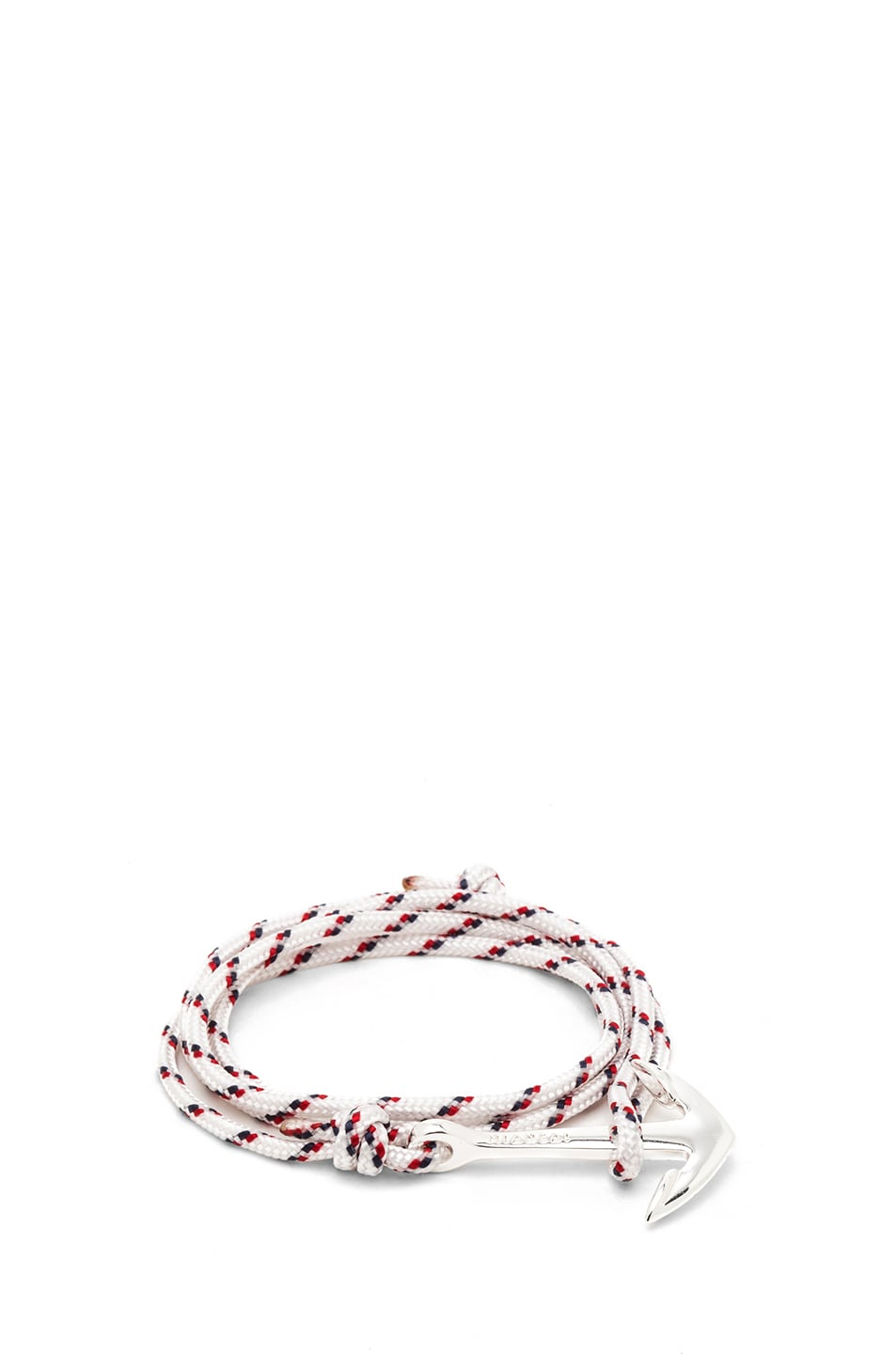 Image 1 of Miansai Anchor Rope Bracelet in White & Silver