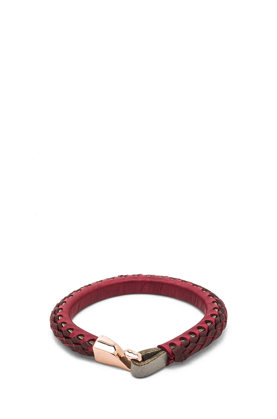 Image 1 of Miansai Laxey Bracelet with Rose Hook in Burgundy