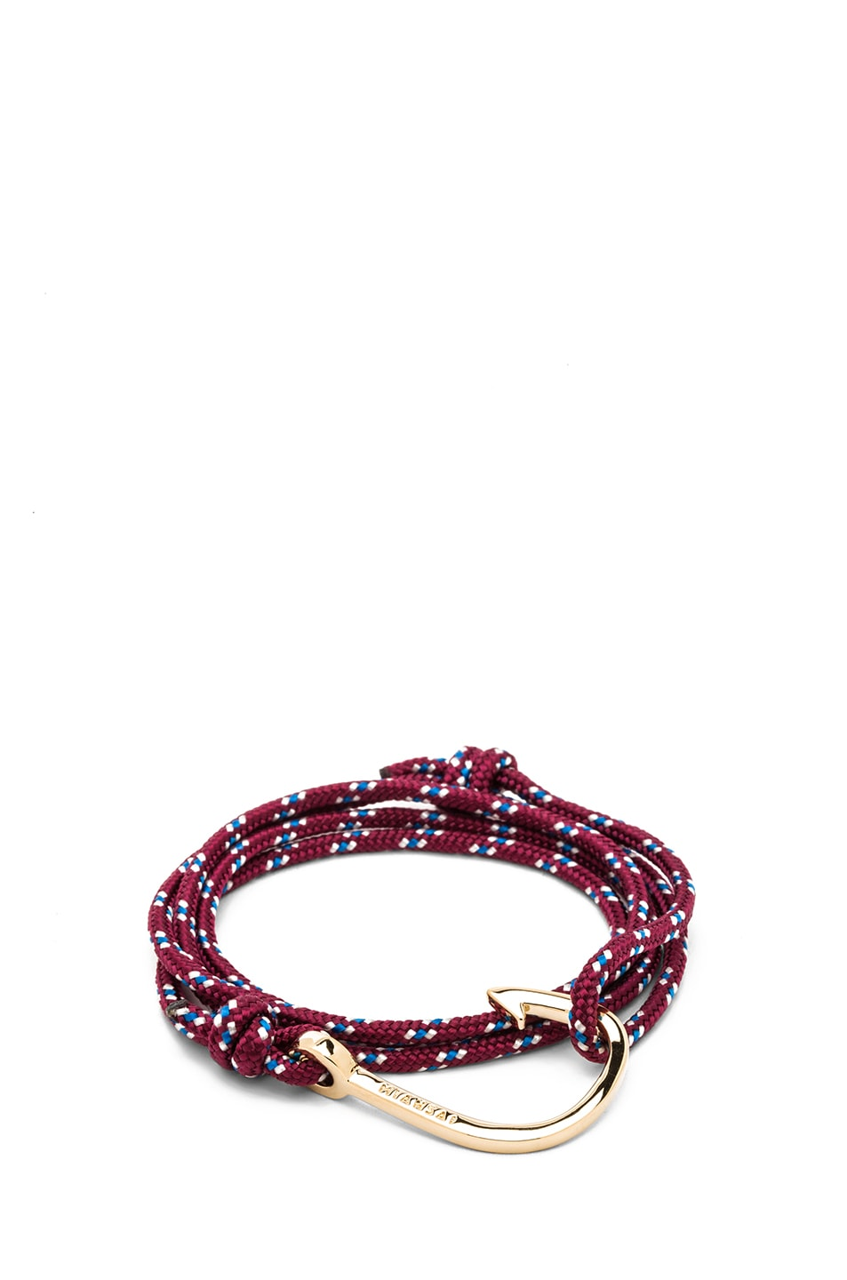 Image 1 of Miansai Hooked Rope Bracelet in Burgundy & Gold