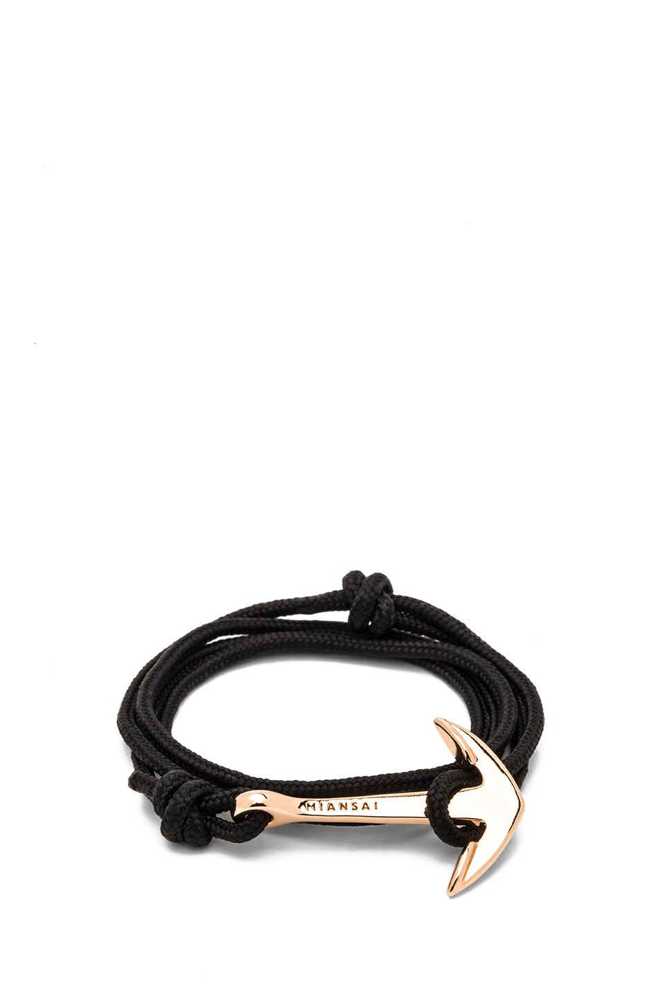 Image 1 of Miansai Anchor Rope Bracelet in Black & Rose Gold
