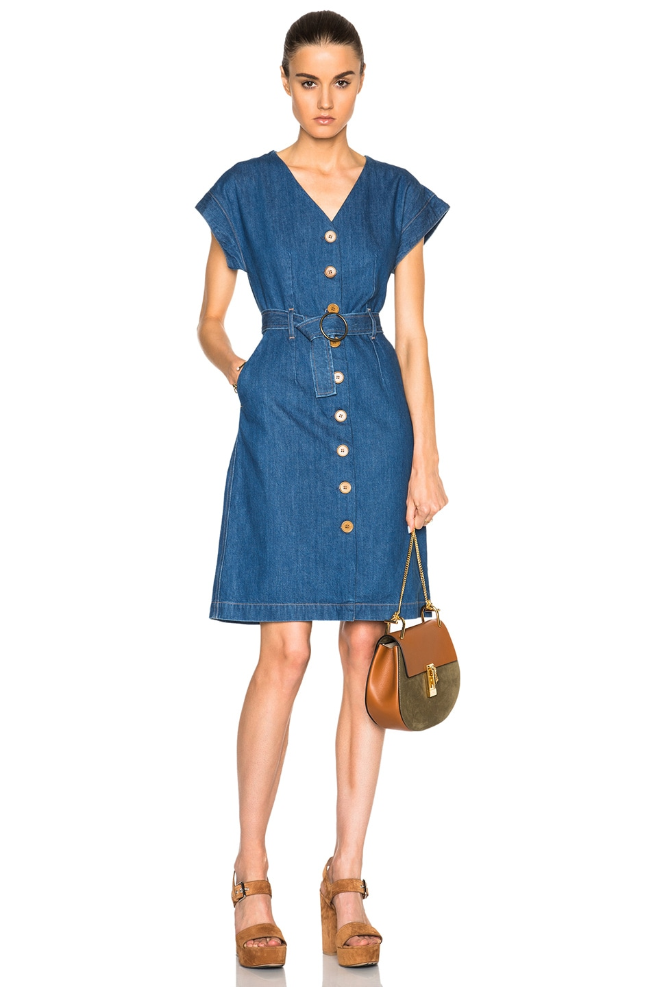 Image 1 Of M I H Jeans Tucson Dress In 74 Blue