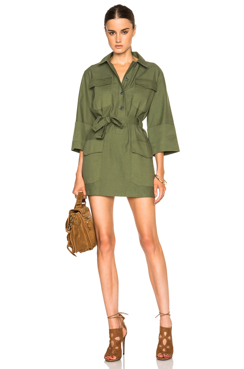 Image 1 of M.i.h Jeans Iola Tunic Dress in Utility Green