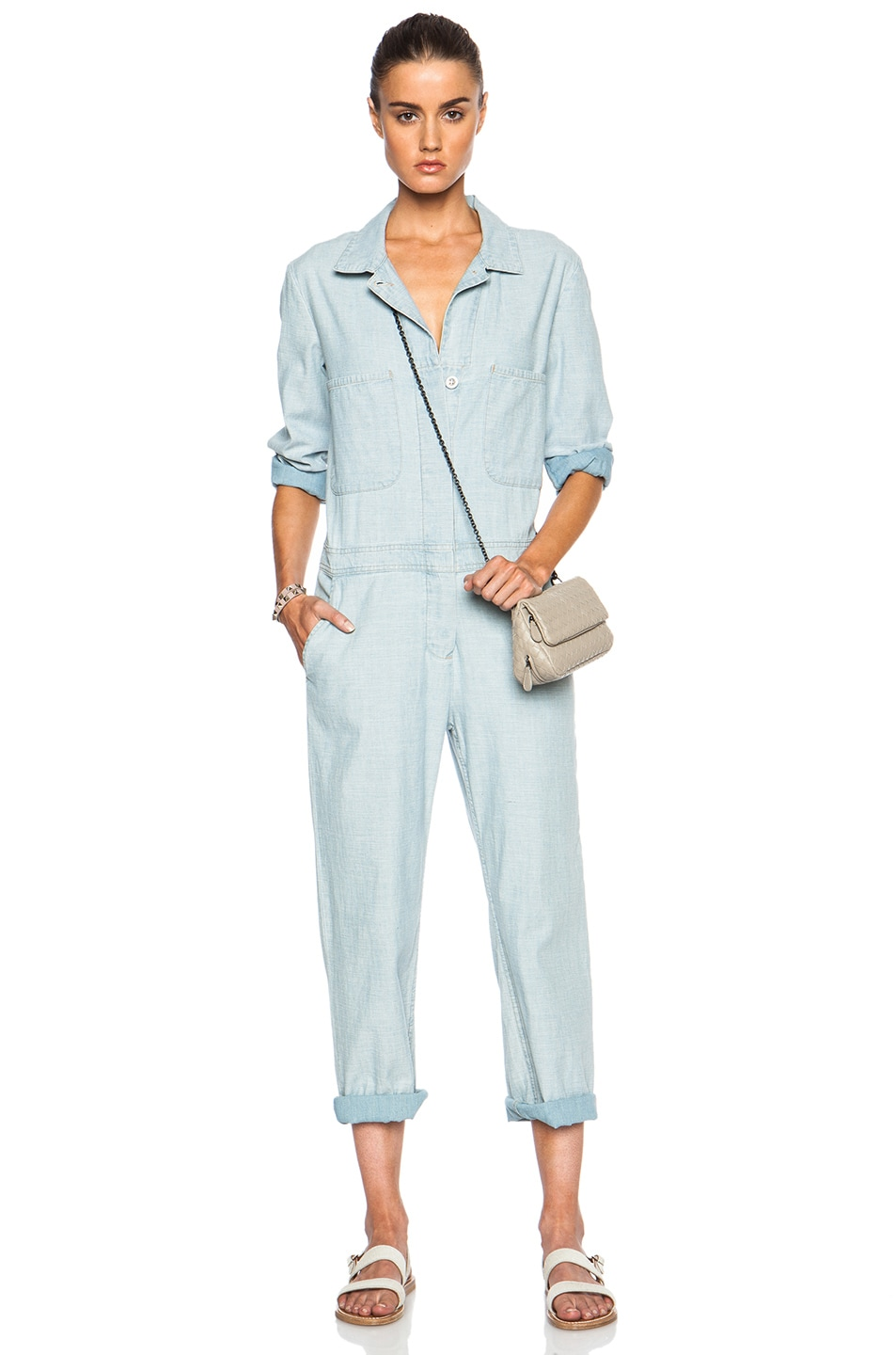 832206d46073 Image 1 of M.i.h Jeans Arconaut Overall Jumpsuit in Desert Denim