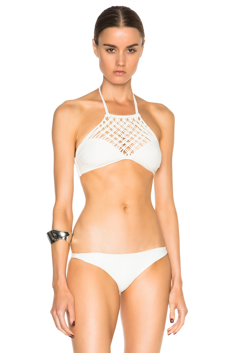 fed2ac4e3c Image 1 of MIKOH Lanikai Bikini Top in Bone