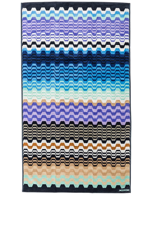 Image 1 of Missoni Home Lara Beach Towel in Blue Multi