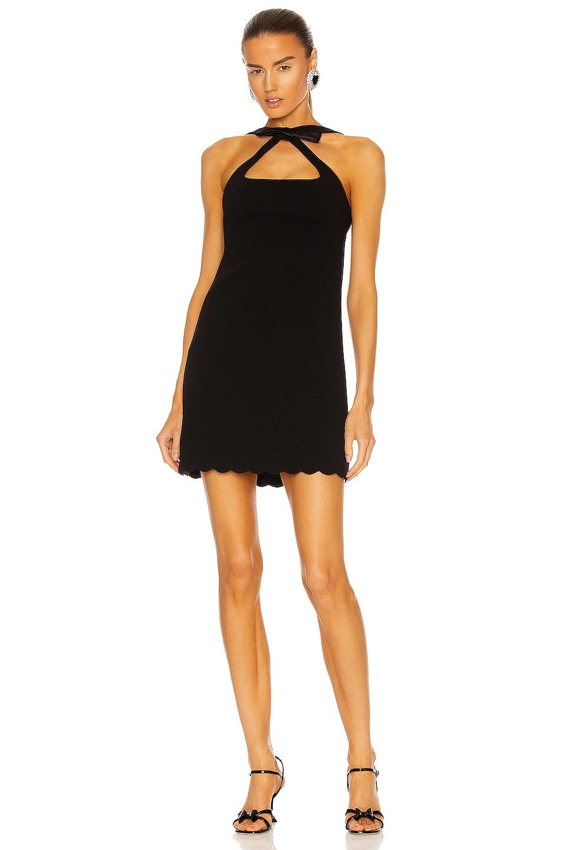 Image 1 of Miu Miu Halter Mini Dress in Nero