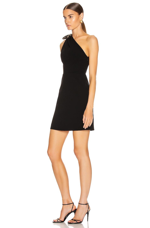 Image 3 of Miu Miu One Shoulder Mini Dress in Black