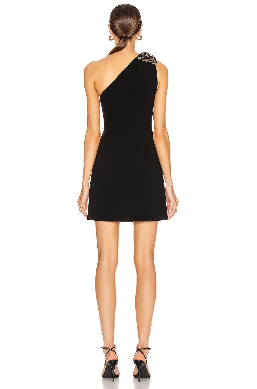 Image 4 of Miu Miu One Shoulder Mini Dress in Black