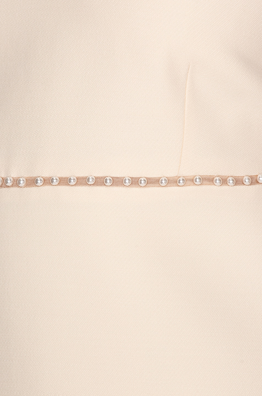 Image 4 of Miu Miu Jewel Crossback Mini Dress in Talco