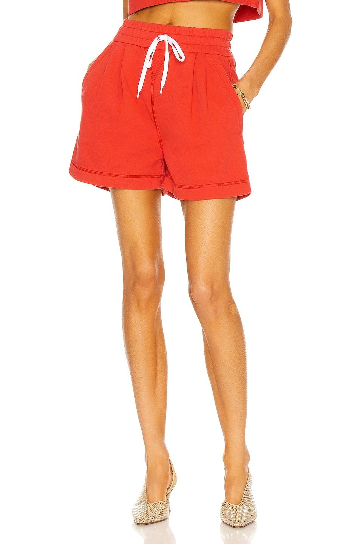 Image 1 of Miu Miu Boxy Shorts in Rosso