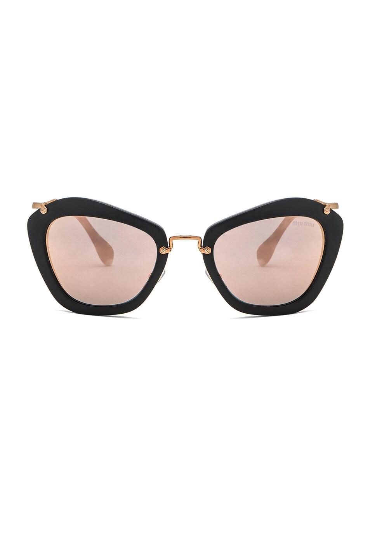 Image 1 of Miu Miu Cat Eye Sunglasses in Black Sand