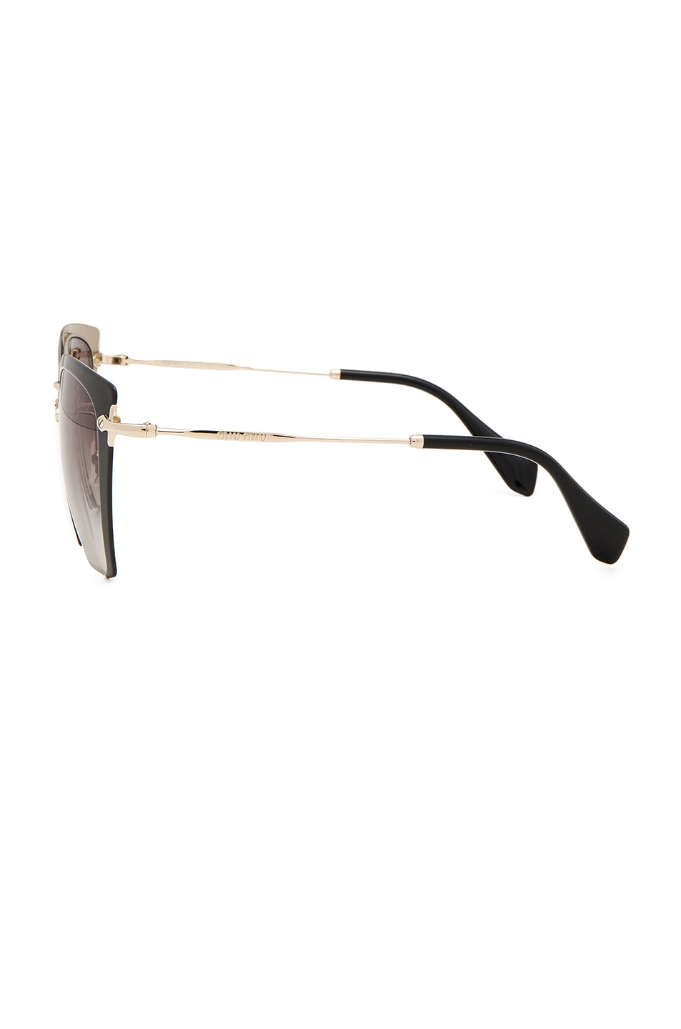 Image 3 of Miu Miu Square Sunglasses in Black