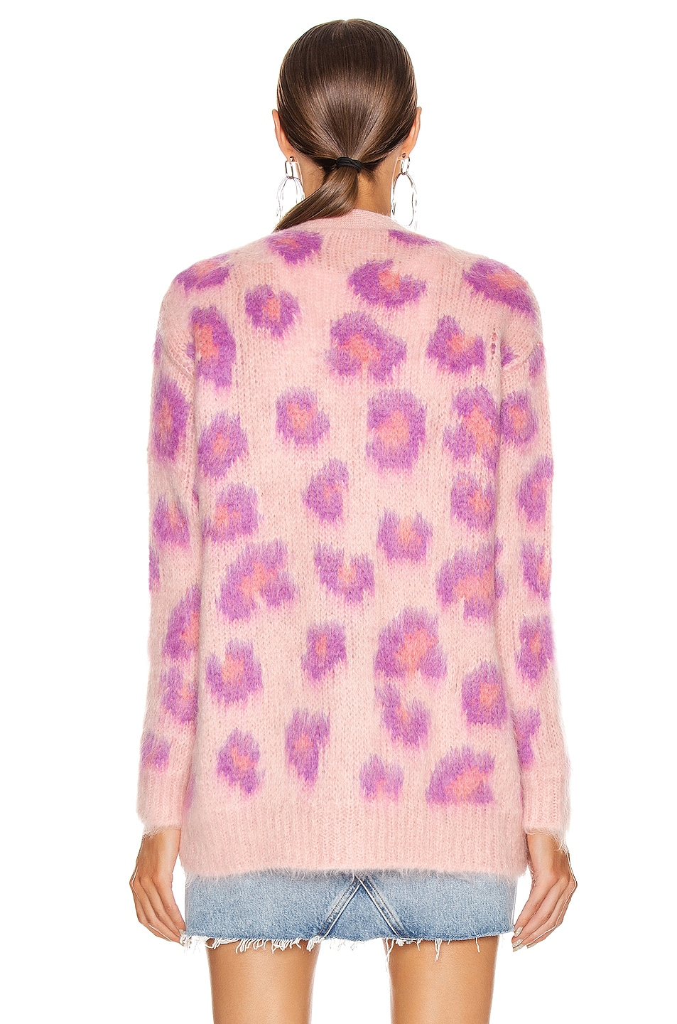Image 4 of Miu Miu Leopard Cardigan in Pink