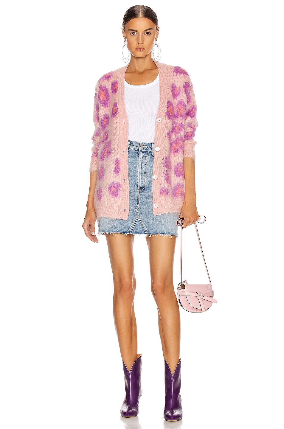 Image 5 of Miu Miu Leopard Cardigan in Pink
