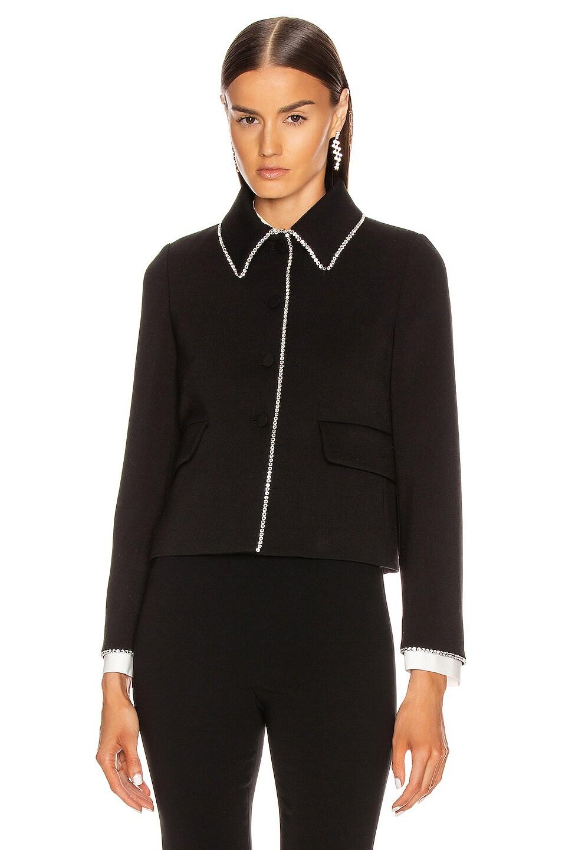 Image 2 of Miu Miu Long Sleeve Jewel Jacket in Black