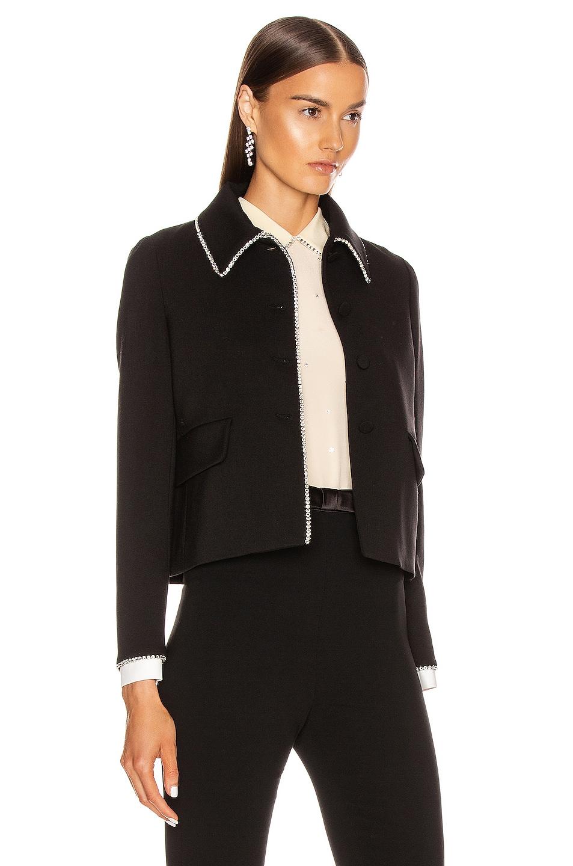 Image 3 of Miu Miu Long Sleeve Jewel Jacket in Black