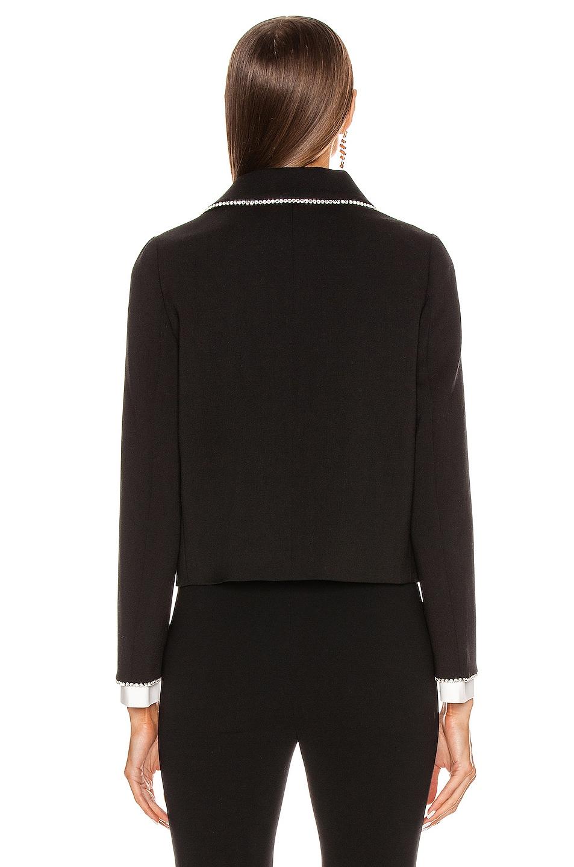 Image 4 of Miu Miu Long Sleeve Jewel Jacket in Black