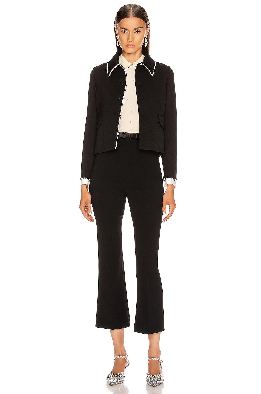 Image 5 of Miu Miu Long Sleeve Jewel Jacket in Black