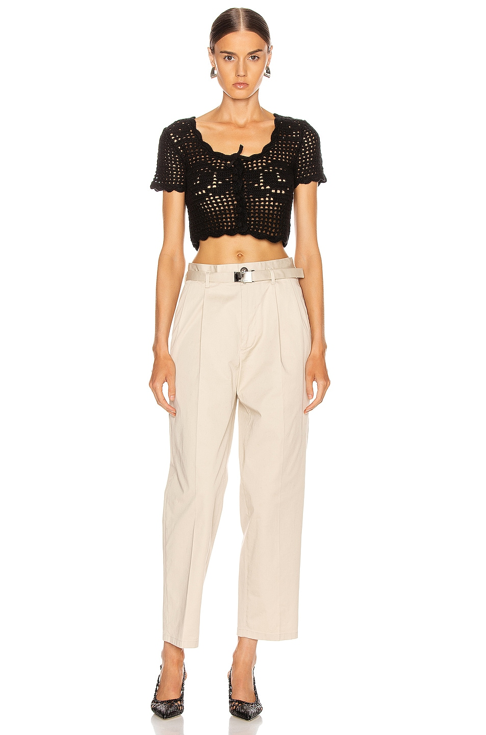 Image 4 of Miu Miu Wide Leg Pant in Lavanda