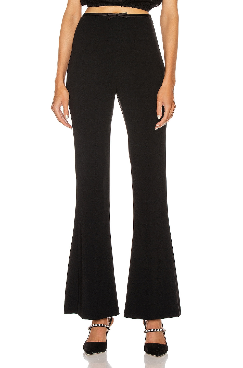 Image 1 of Miu Miu Flare Pant in Black