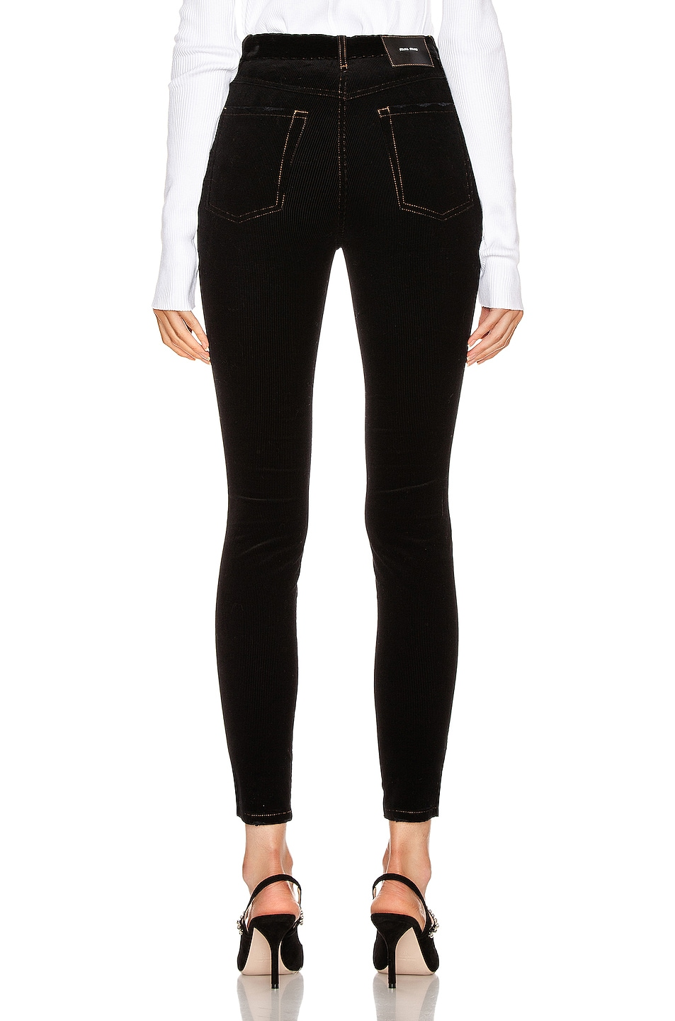Image 3 of Miu Miu Skinny Pant in Black