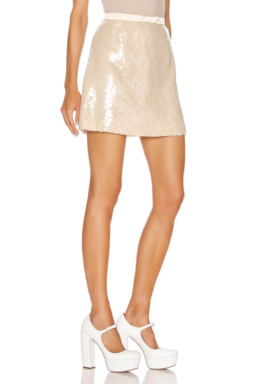 Image 2 of Miu Miu Sequin Mini Skirt in White