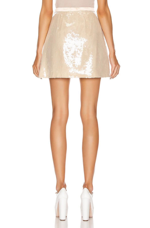 Image 3 of Miu Miu Sequin Mini Skirt in White