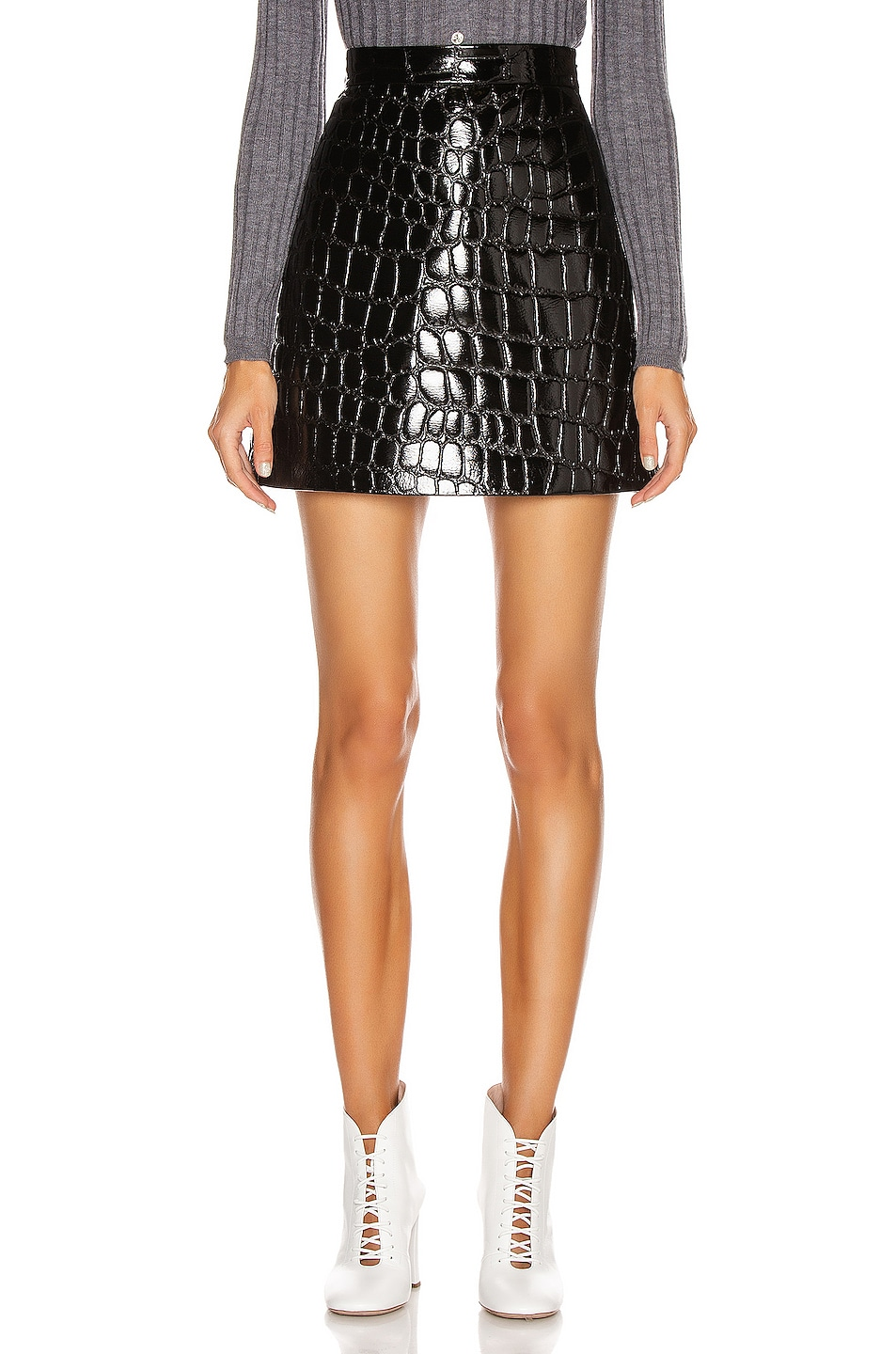 Image 1 of Miu Miu Mini Skirt in Black