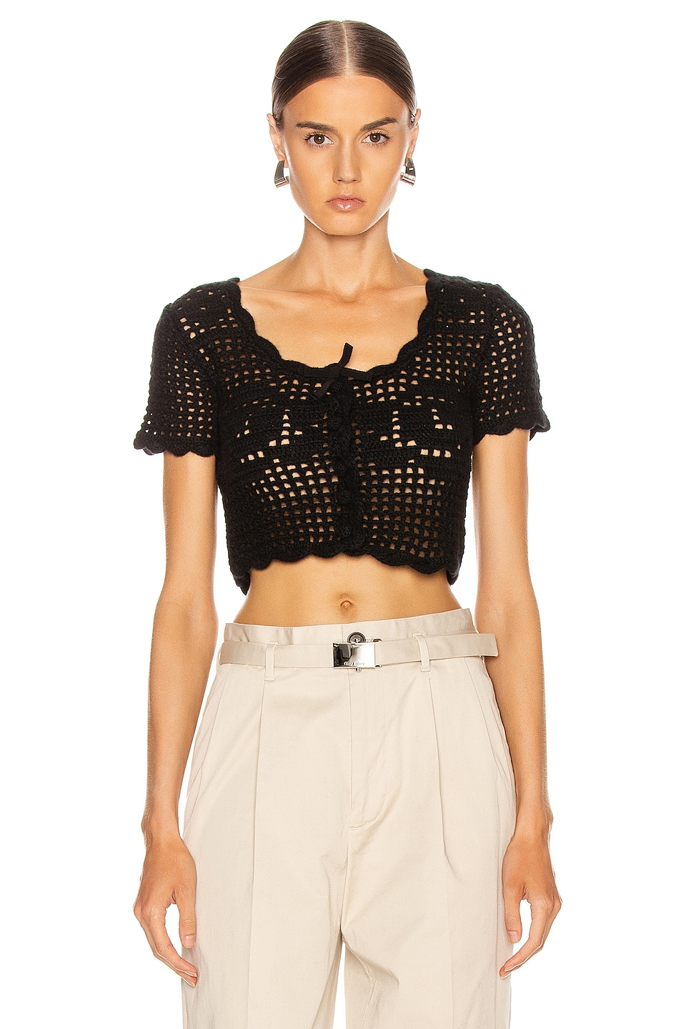 Image 1 of Miu Miu Cashmere Top in Black