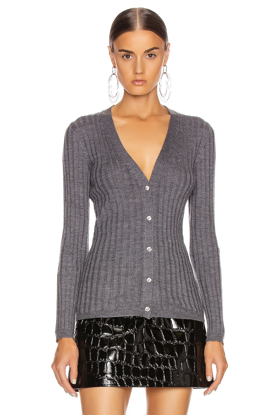 Image 2 of Miu Miu Long Sleeve Top in Ardesia