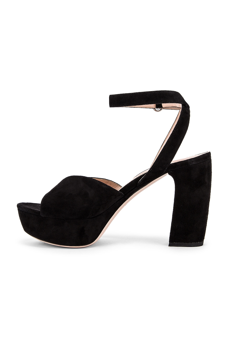 Image 5 of Miu Miu Platform Ankle Strap Sandals in Black