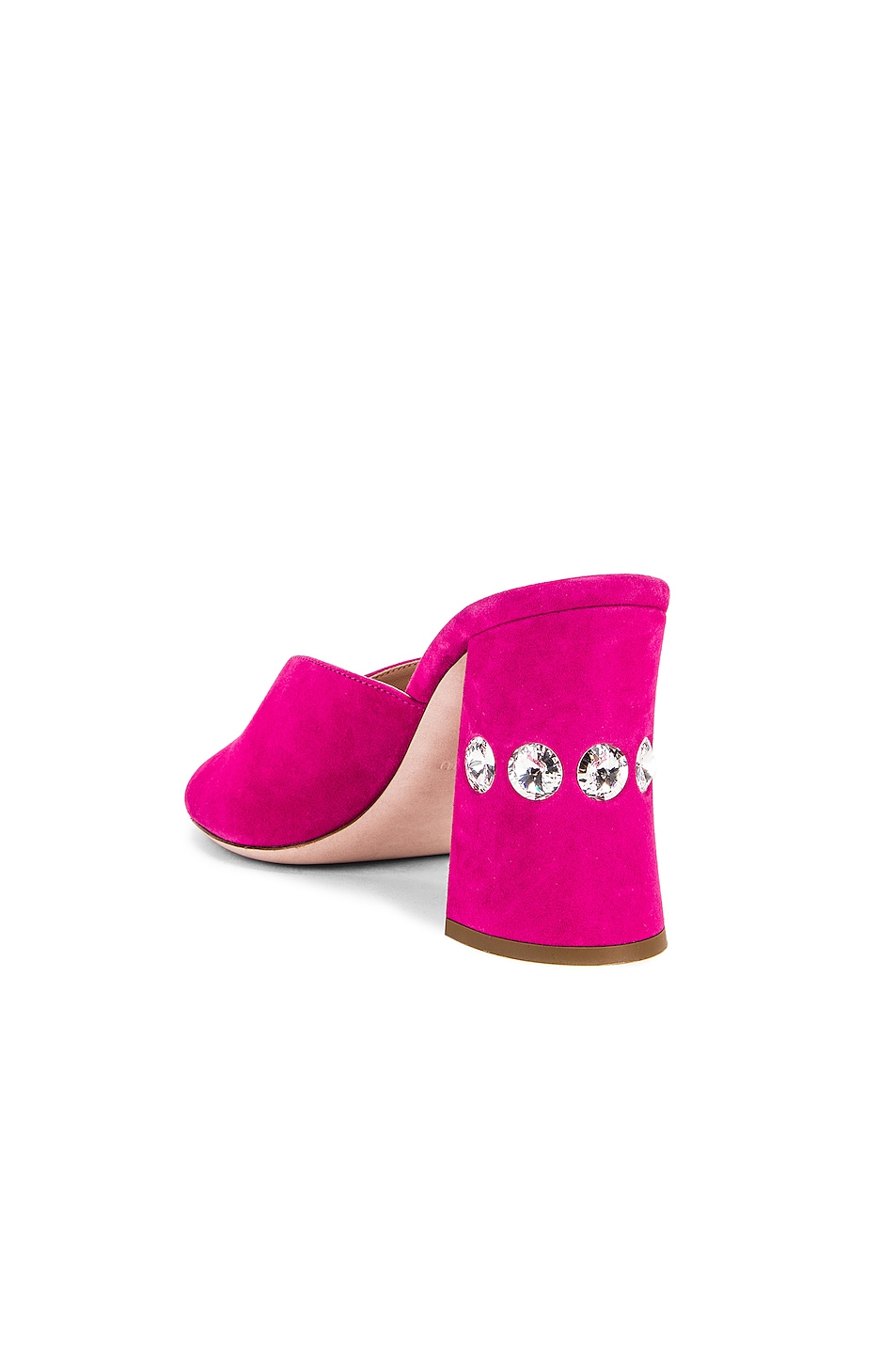 Image 3 of Miu Miu Jeweled Mules in Pink