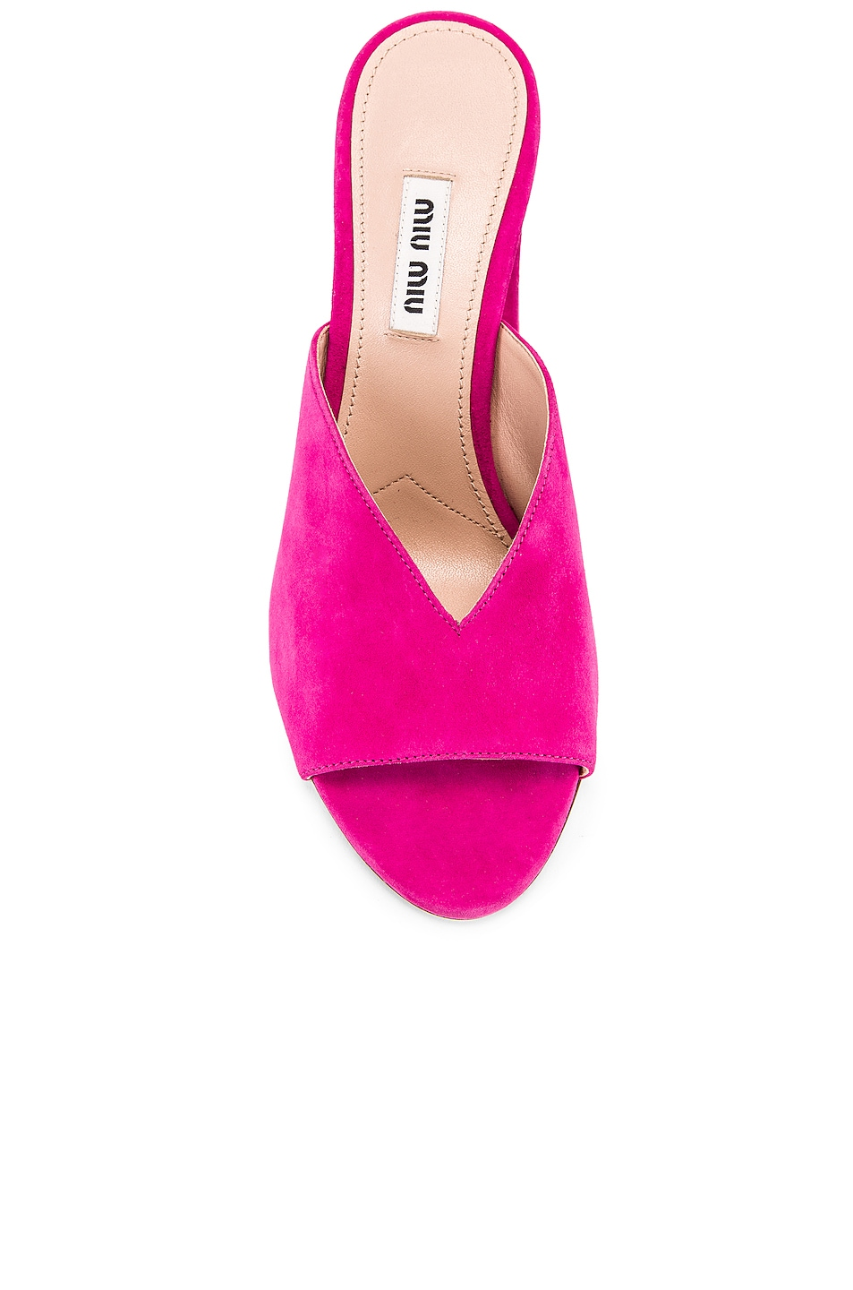 Image 4 of Miu Miu Jeweled Mules in Pink