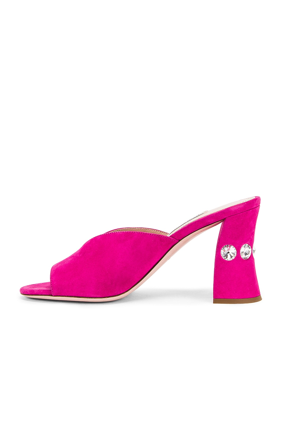 Image 5 of Miu Miu Jeweled Mules in Pink